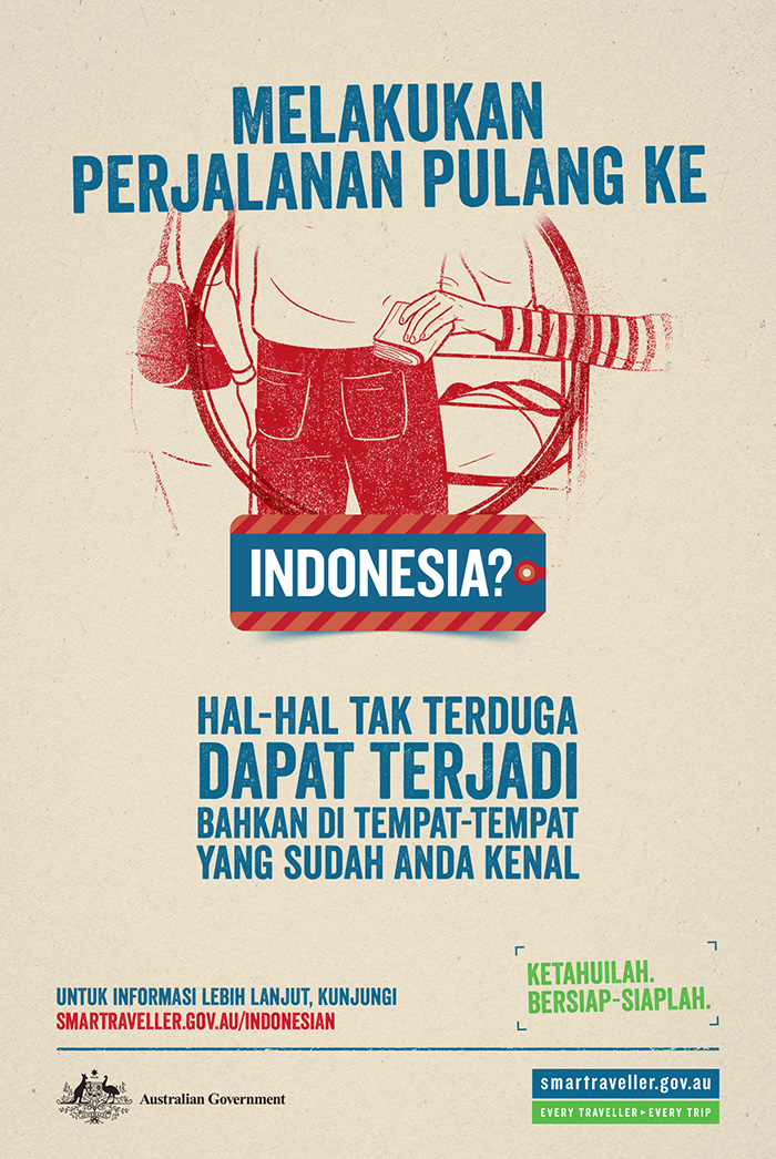 Smartraveller Indonesian poster