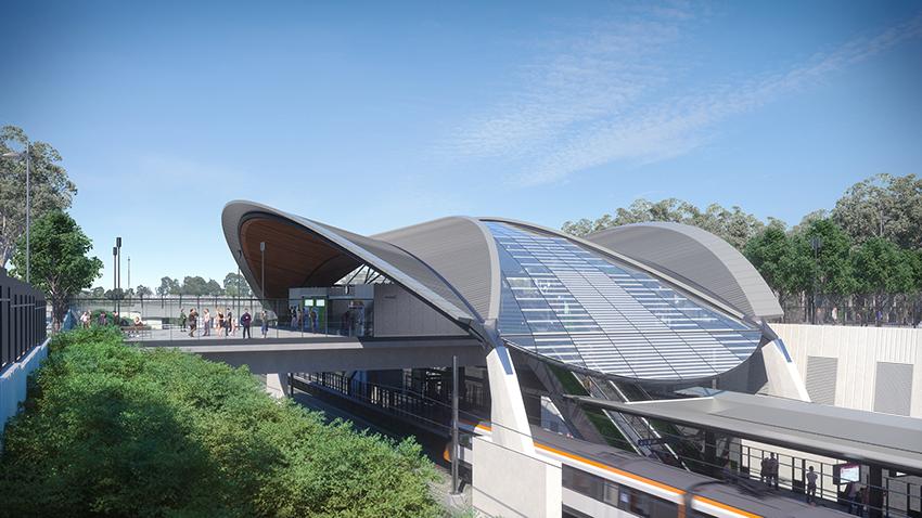 Sydney Metro NW Cudgegong Rd canopy level