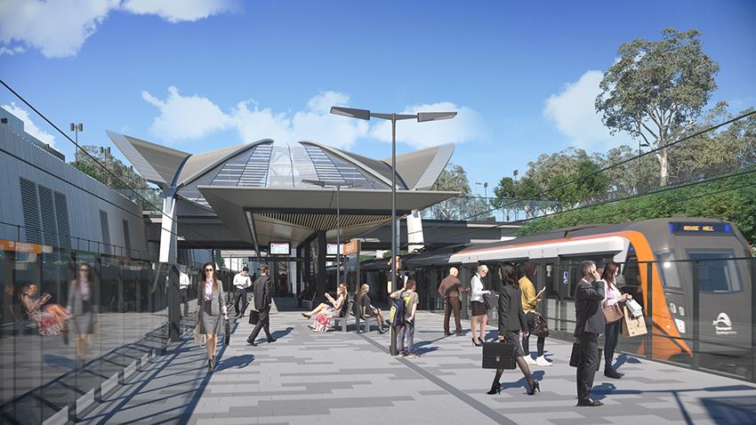 Sydney Metro NW Cudgegong Rd platform level
